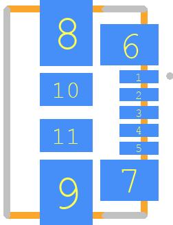 0473460001 - Molex PCB footprint - Other - 0473460001