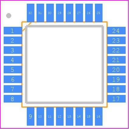 ATMEGA328P-AU - Microchip PCB footprint - Quad Flat Packages - 32A