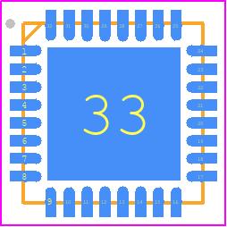 ATMEGA16U2-MU - Microchip PCB footprint - Quad Flat No-Lead - 32M1-A