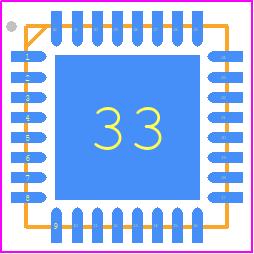 STM32F051K4U6TR - STMicroelectronics PCB footprint - Quad Flat No-Lead - STM32F051K4U6TR-1