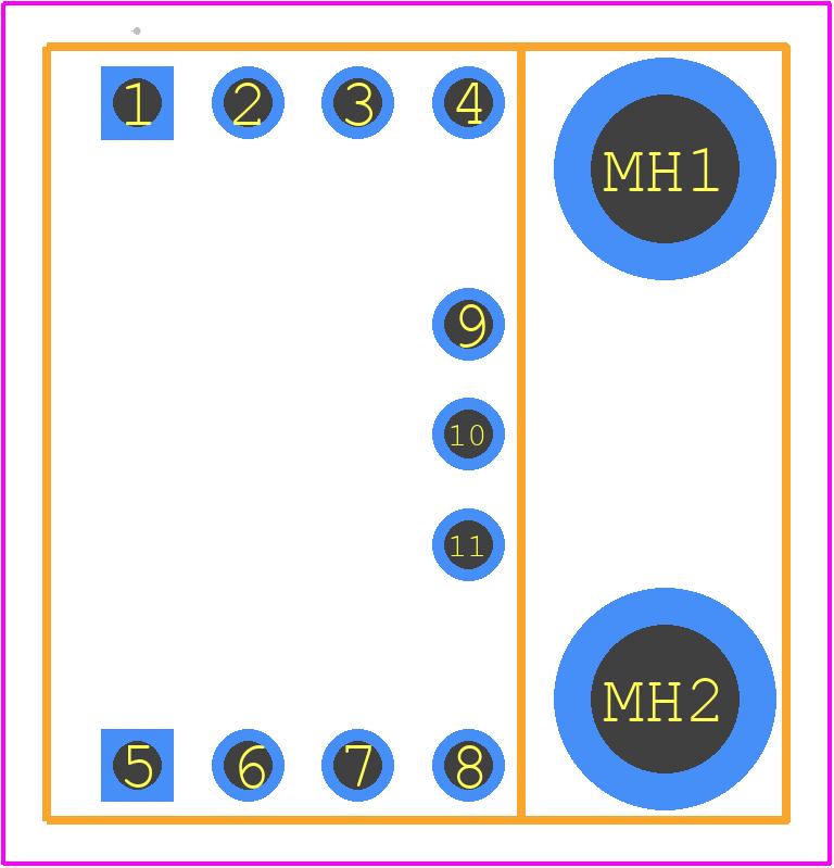 SEN-13762 - SparkFun Electronics - PCB Footprint & Symbol