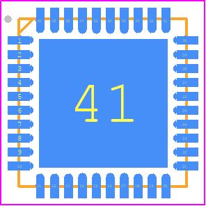 LMX2594RHAT - Texas Instruments PCB footprint - Quad Flat No-Lead - RHA (S-PVQFN-N40)_2