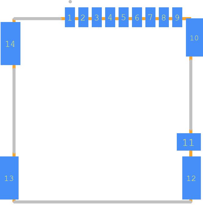 PJS008-2003-0 - Yamaichi PCB footprint - Other - PJS008-2003-0