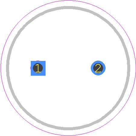 UKL1V101KPDANATD - Nichicon PCB footprint - Capacitor, Polarized Radial Diameter - UKL1V101KPDANATD