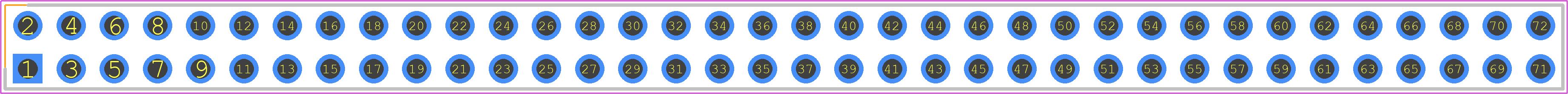 67996-272HLF - Amphenol PCB footprint - Header, Vertical - 67996-272HLF