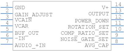 SSM2166S - Analog Devices - PCB symbol