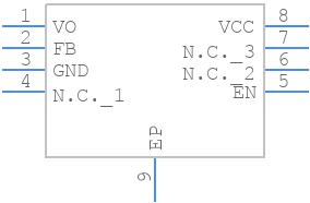 BD90GC0WEFJ-E2 - ROHM Semiconductor - PCB symbol