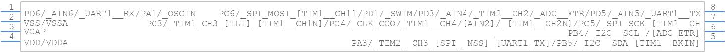 STM8S001J3M3 - STMicroelectronics - PCB symbol