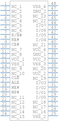 MT29F1G08ABAEAWP-IT:E TR - Micron - PCB symbol