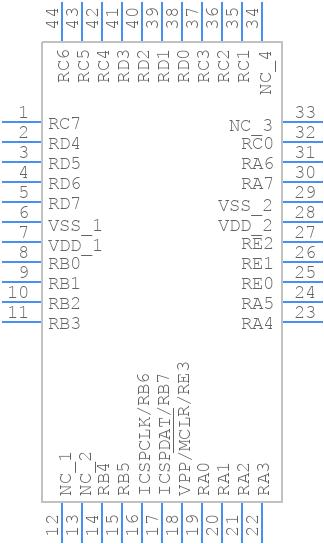 PIC18F47K42-I/PT - Microchip - PCB symbol
