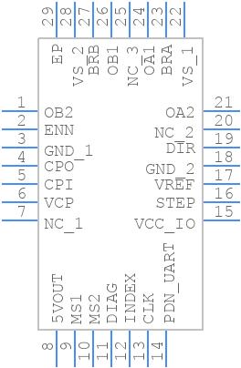 TMC2208-LA-T - TRINAMIC - PCB Footprint & Symbol Download