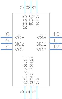MPRLS0025PA00001A - Honeywell - PCB symbol