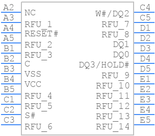 MT25QL02GCBB8E12-0SIT - Micron - PCB symbol