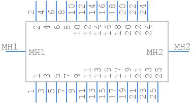 502598-2593 - Molex - PCB symbol