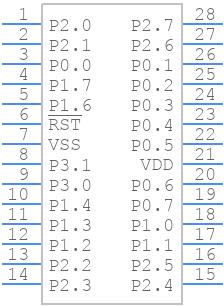 N79E855AWG - Nuvoton - PCB symbol