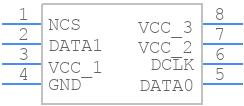 EPCQ4ASI8N - Intel - PCB symbol