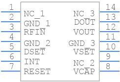 P2110B - Powercast - PCB symbol