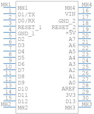 ARD-NANO30NP - Gravitech - PCB symbol