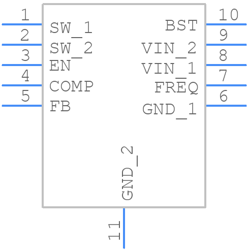 MP2562DQ-LF-P - Monolithic Power Systems (MPS) - PCB symbol