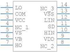 IR2110 - International Rectifier - PCB symbol