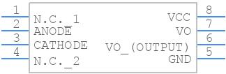 TLP250 - Toshiba - PCB symbol