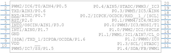 N76E003AT20 - Nuvoton - PCB symbol