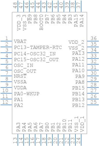 STM32F103CBT6 - STMicroelectronics - PCB symbol