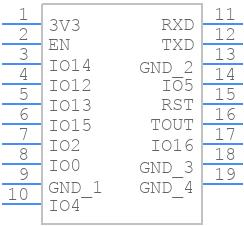 ESP-WROOM-02D - Espressif - PCB symbol