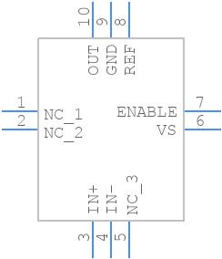 INA190A1IRSWT - Texas Instruments - PCB symbol