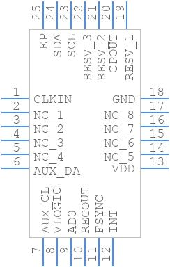 MPU-6050 - TDK - PCB Footprint & Symbol Download