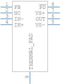 OPA855IDSGR - Texas Instruments - PCB symbol
