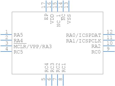 PIC16F1824-I/ML - Microchip - PCB Footprint & Symbol Download