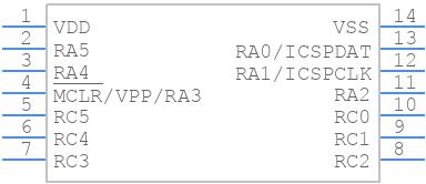 PIC16F1824-I/SL - Microchip - PCB symbol