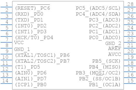 ATMEGA8A-PU - Microchip - PCB symbol
