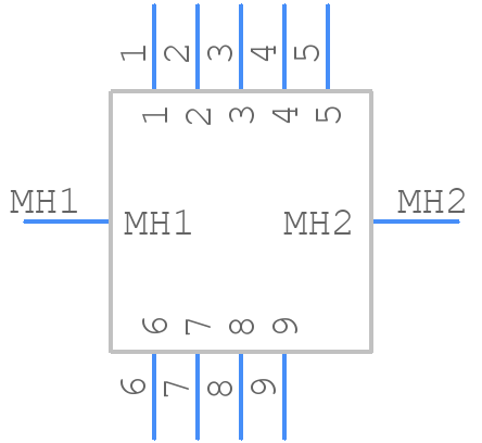 2301843-1 - TE Connectivity - PCB symbol