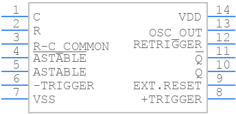CD4047BE - Texas Instruments - PCB symbol