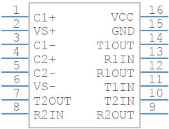 MAX232N - Texas Instruments - PCB symbol