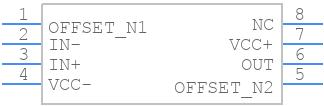 TL061CP - Texas Instruments - PCB Footprint & Symbol Download
