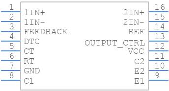 TL494CN - Texas Instruments - PCB symbol