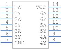 SN74HC04D - Texas Instruments - PCB symbol