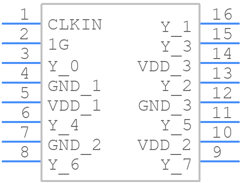 CDCLVC1108PWR - Texas Instruments - PCB symbol