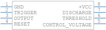 LM555CM - Texas Instruments - PCB symbol