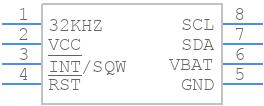 DS3231MZ+ - Maxim Integrated - PCB symbol