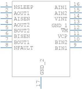 DRV8833PWP - Texas Instruments - PCB symbol