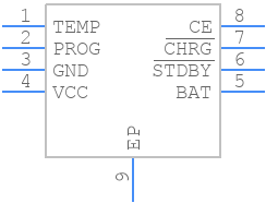 TP4056-42-ESOP8 - Nanjing Extension Microelectronics - PCB symbol