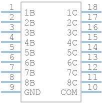 ULN2803ADWR - Texas Instruments - PCB symbol