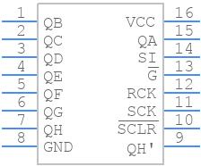 M74HC595YRM13TR - STMicroelectronics - PCB symbol