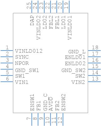 LM26480SQ-AA/NOPB - Texas Instruments - PCB symbol