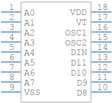 HT12D - Holtek - PCB symbol