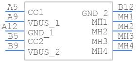 TYPE-C-31-M-17 - Korean Hroparts Elec - PCB symbol